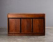 "52"" Mid Century Buffet Sideboard Bar Credenza Walnut Dillingham Merton Gershun"