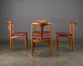 4 Danish Modern Dining Chairs 'Juliane' Johannes Andersen Mid Century