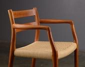 Mid Century Armchair Moller 67 Danish Modern Teak Dining Chair