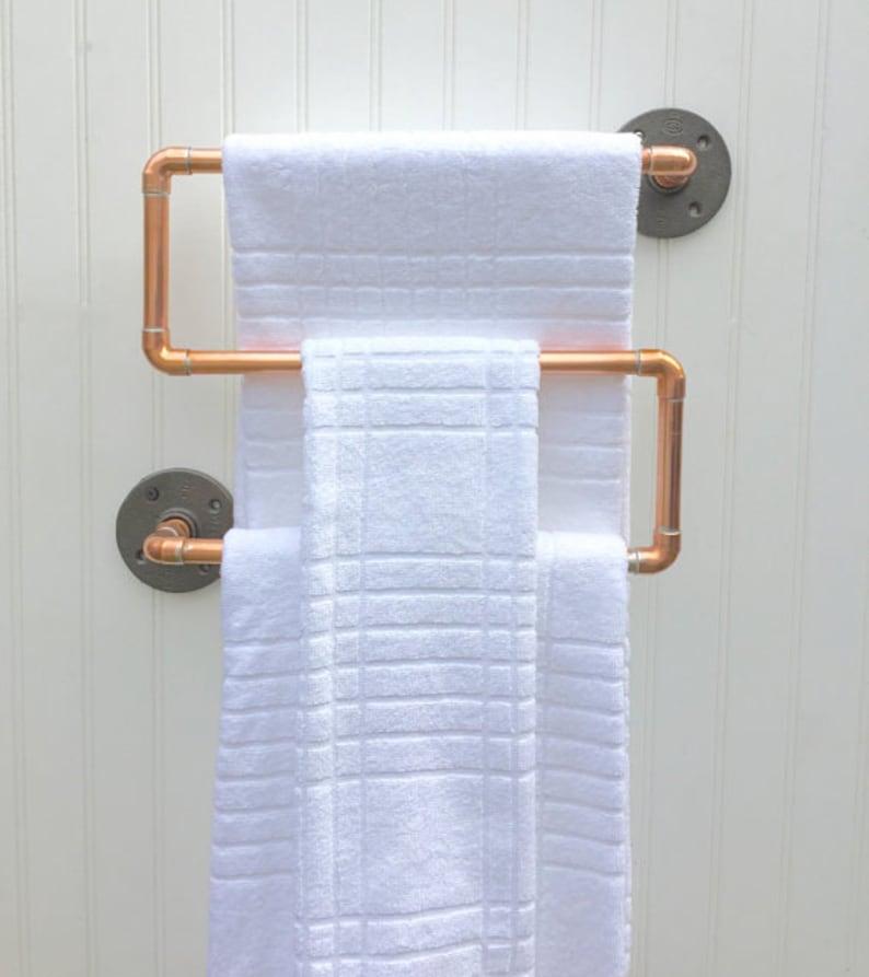 Copper Pipe Towel Rack Industrial Towel Bar Modern Etsy