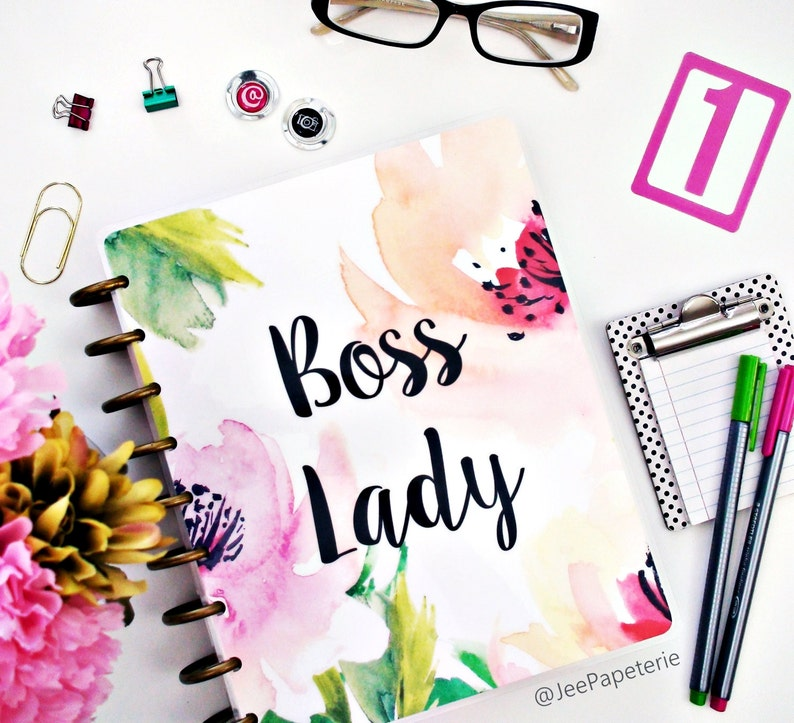 Boss Lady Planner COVER Happy Planner Cover Erin Condren image 0