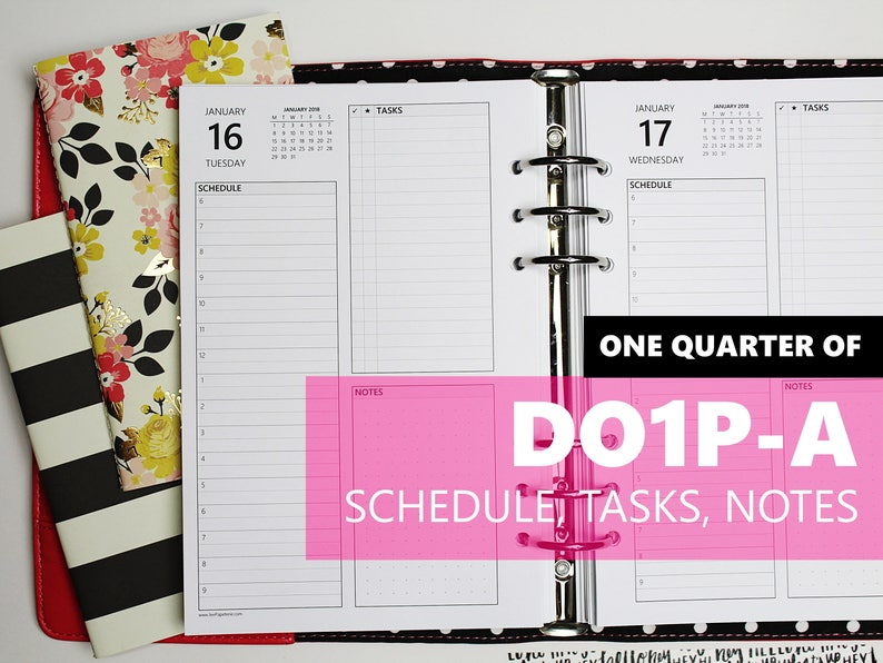 DO1P-A ONE-QUARTER of Daily Inserts-Version A w/schedule image 0