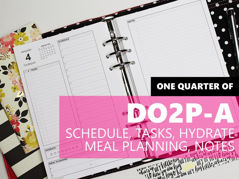 DO2P-A ONE-QUARTER of Daily Inserts-Version A: schedule image 0