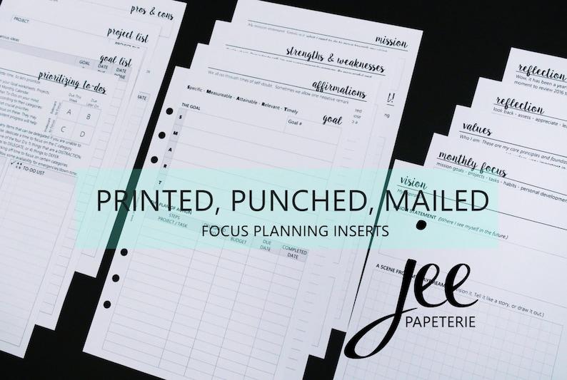 Focus Planning Inserts: Values Vision Mission Goals image 0