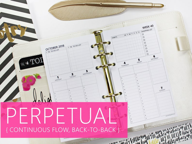 Printed PERSONAL-SIZE: PERPETUAL Weekly Directive image 0