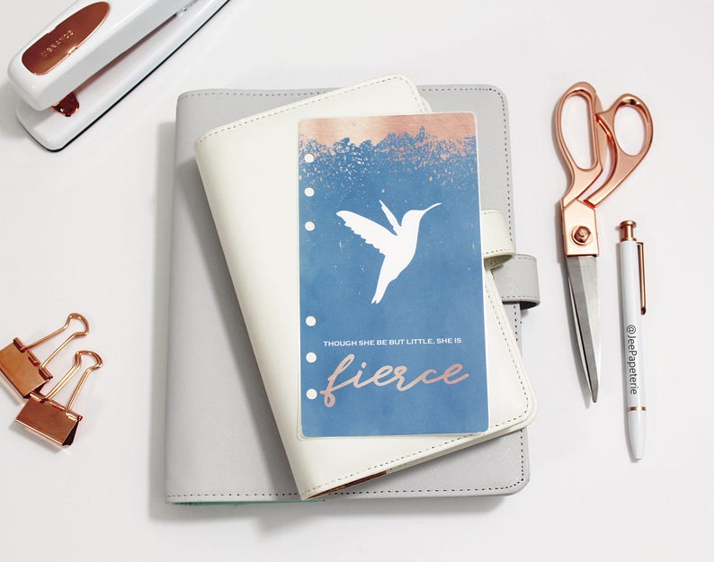 Hummingbird Planner DASHBOARD: Though she be but little image 0