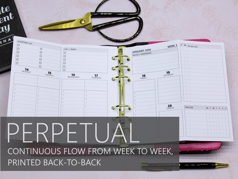 Printed Personal-Size: FOLD-OUT version of PERPETUAL Weekly image 0