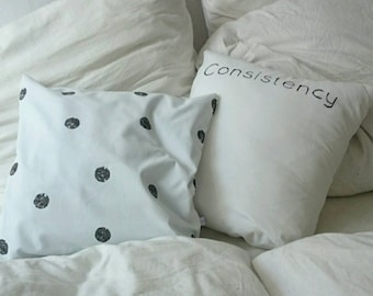 Pillow Cover with Polka Dots, Pillow Case, Bedding