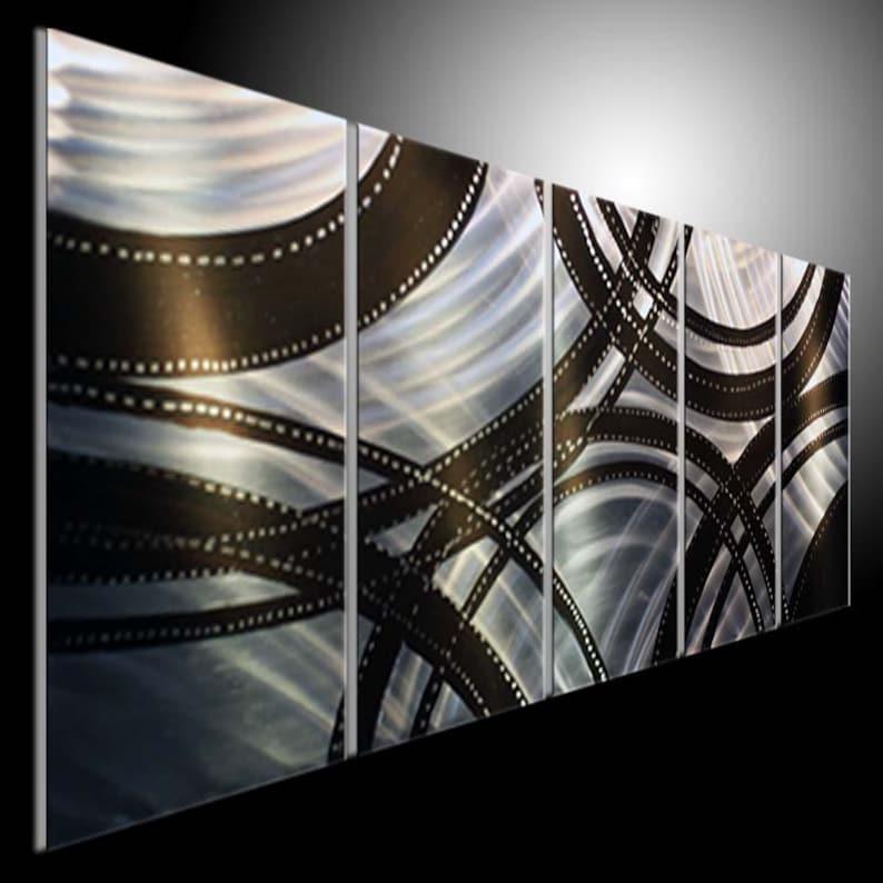 Peinture murale moderne Abstrait Art.Original mur métal Art   Etsy