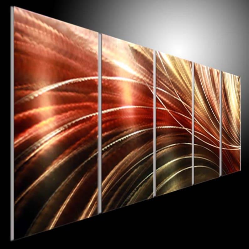 Métal peinture murale Art moderne. Sculpture en métal Wall   Etsy