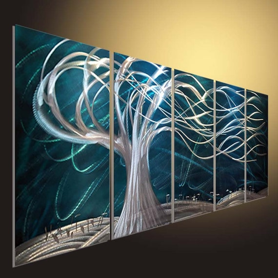 Metal Wall Art metal tree Modern 3D Painting Sculpture Metal | Etsy