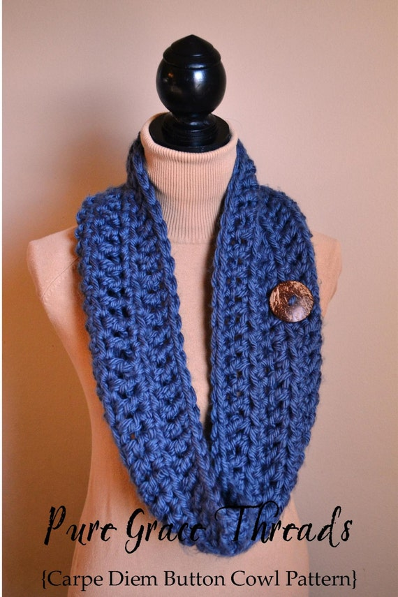 Crochet Pattern Carpe Diem Cowl Permission To Sell Etsy
