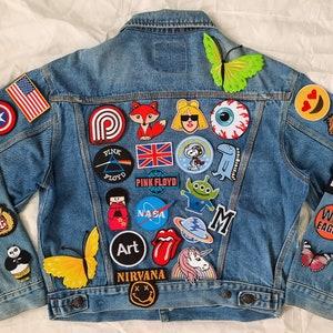 Do not buy SOLD Vintage upcycled denim Miss Wong Tretchikof jacket SOLD