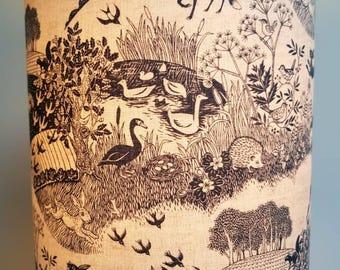 Grey Countryside Fabric Lampshade