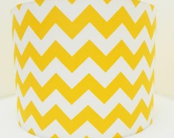 Yellow Chevron Fabric Lampshade