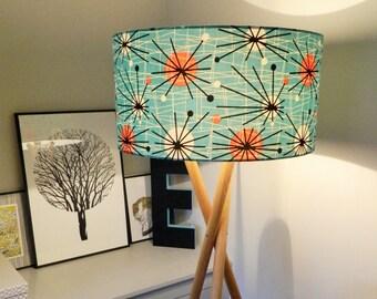 1950s Retro Atomic Fabric Lampshade