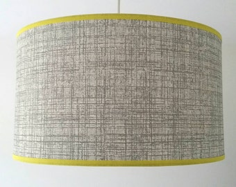 Scion 'Khadi' Gull Grey Wallpaper Lampshade With Your Choice of Trim