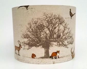 Woodland Animal Fabric Lampshade
