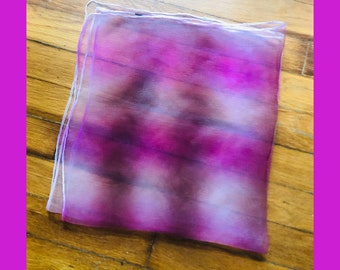 2cd8f9de4a554 Vintage 60s two tone pink and purple nylon scarf