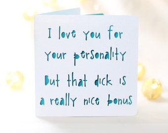 Bonus Dick Funny Birthday Card For Him Husband Boyfriend Snarky Sarcastic Cardno Gift