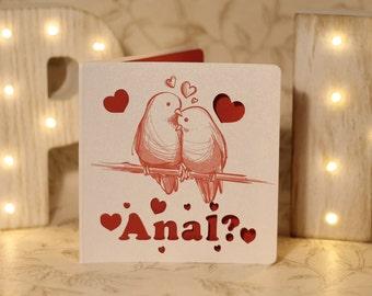 innuendo valentines, rude valentine card, naughty valentines, sexy love card, rude love card, gay love card, anal card, anti valentines card