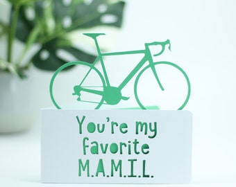 You're my favourite MAMIL, Middle aged man card,  cyclists birthday,  bicycle birthday, bike adventure card, cyclist card, card for cyclist,