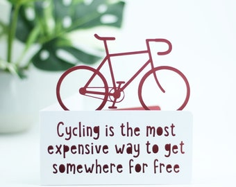 Cycling is an expensive hobby card,  Card for a cyclists birthday,  bicycle birthday, bike adventure card, cyclist card, card for cyclist,