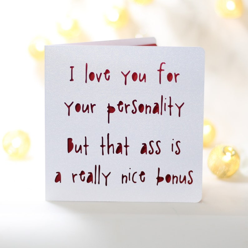 Bonus Ass Silly Funny Birthday Card For Him Husband Boyfriend Snarky Sarcastic Cardno Gift