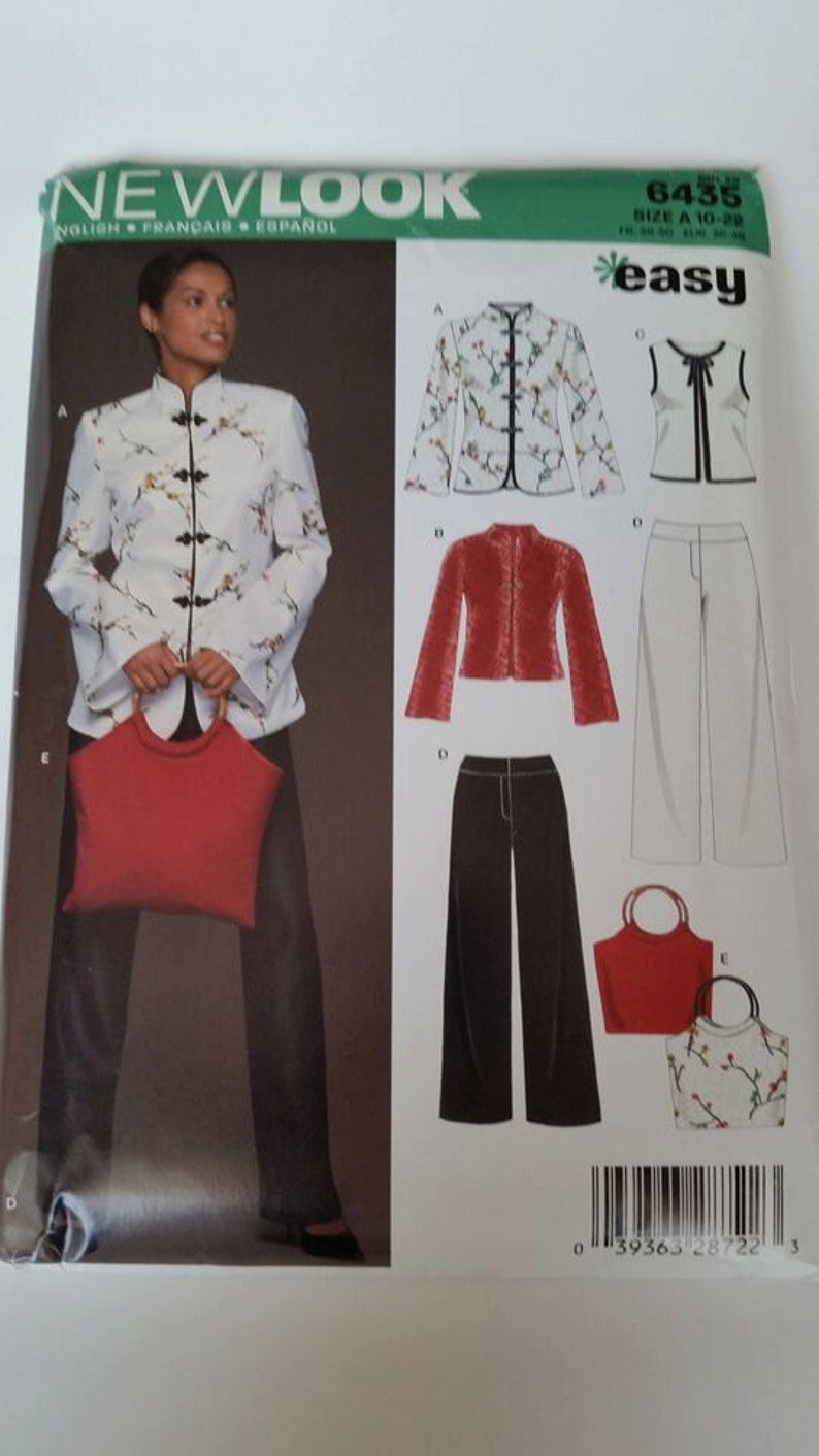 86cca02b1b5 New Look sewing pattern 6435 Misses' Jacket, Top, Purse and Pants Seven  Sizes in One in sizes 10-22