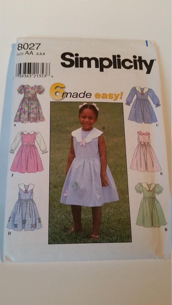 Burda Patr/ón 9376 Kids Camiseta y Vestido