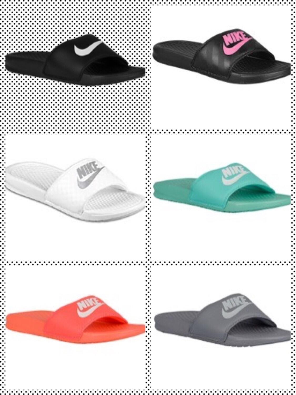 Bling Nike sandals flip flops