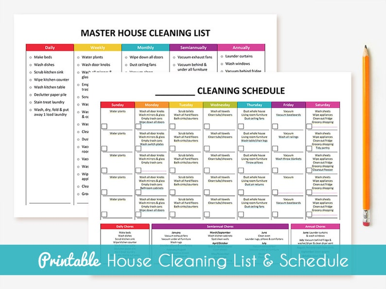 image about Cleaning List Printable referred to as Printable Cleansing Routine Understand Household Cleansing Record Deal