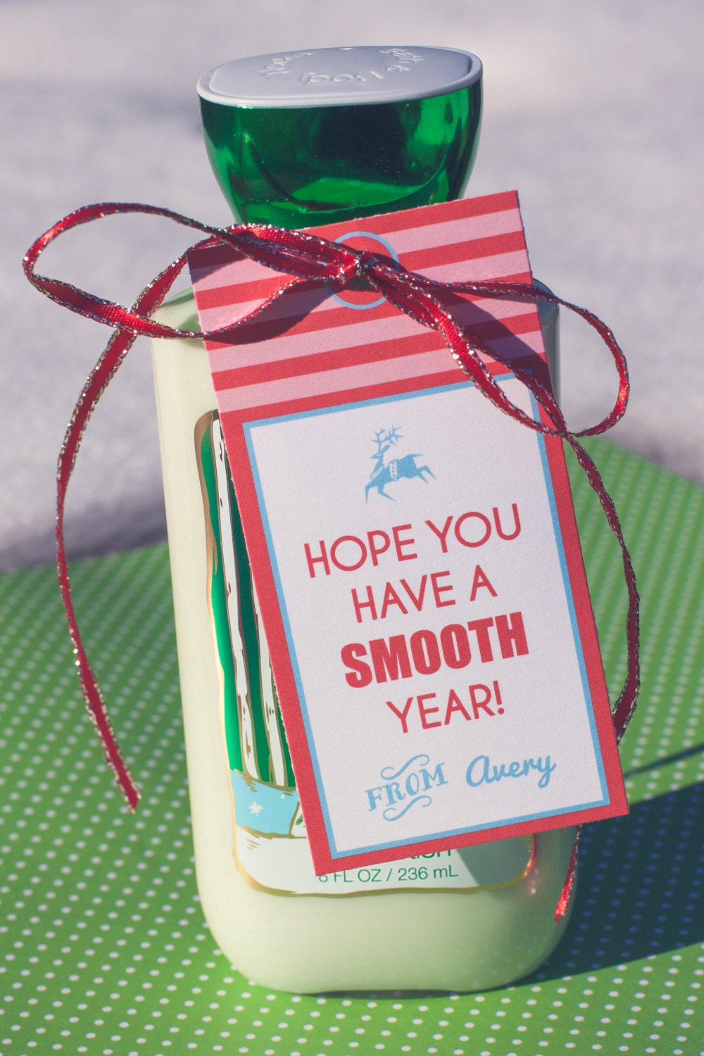 Christmas Lotion Bottle Gift Tag Thank You Gift Tag   Etsy