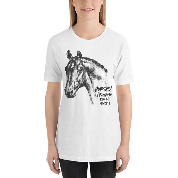 Love Horses because People Suck Boys Girls Kids Childrens Hooded Top Hoodie