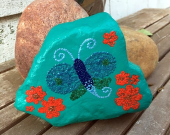 Fantasy Butterfly Painted Rock