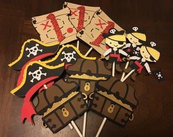 Pirate cupcake topper