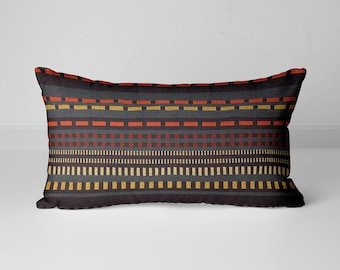 Maharam Paul Smith Point Slate and Black pillow, Stripes pillow cover, modern pillow covers, multicolor pillow covers, designer pillow