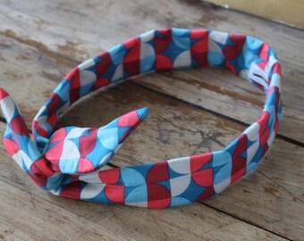 Bandeau retro - headband -noeud - motifs vintages