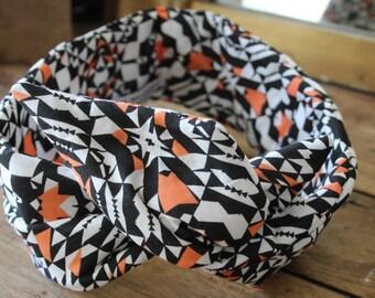 Bandeau retro - headband -noeud - XL-géométrique