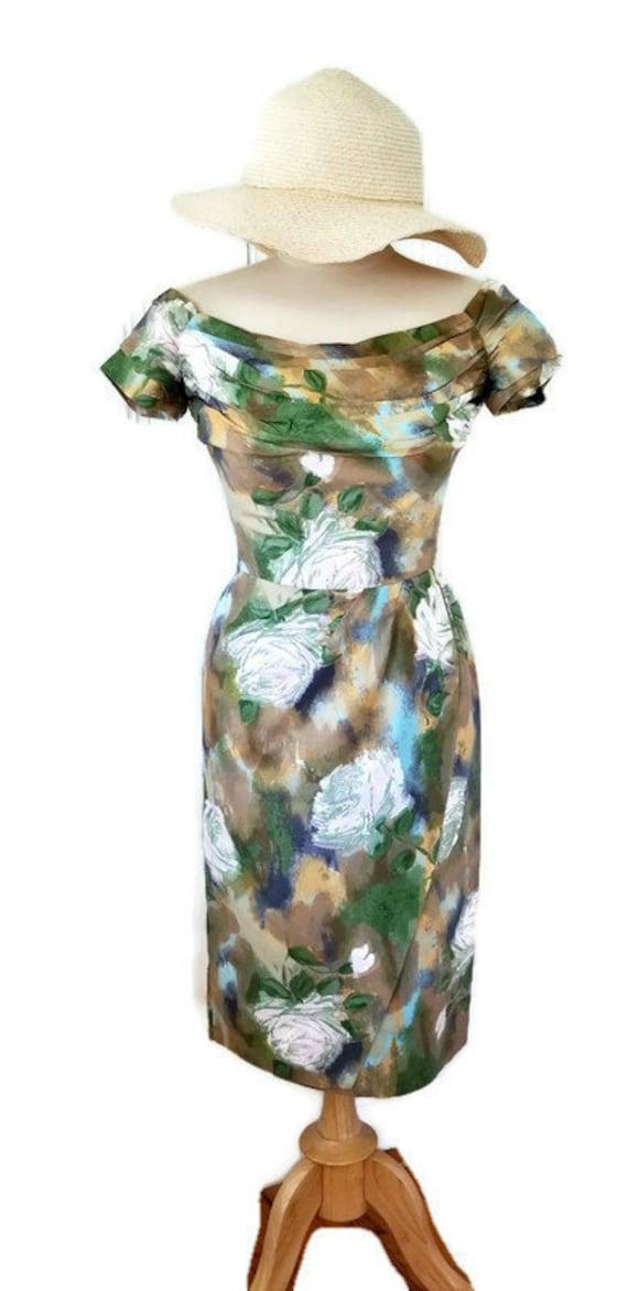 vintage Ceil Chapman wiggle dress