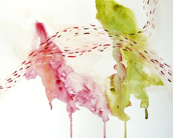 Abstract watercolor painting - Herds #5