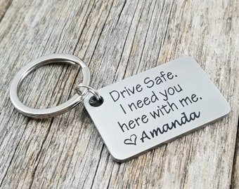 Drive Safe Customizable Laser Engraved Stainless Steel key chain 11th Anniversary gift Best friend Boyfriend gift Girlfriend New driver  sc 1 st  Etsy & Friend anniversary | Etsy