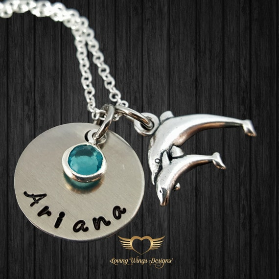 Dolphin Necklace, mom baby necklace, new mom gift, Mom necklace, daughter  necklace, child necklace, baby dolphin, little girl jewelry