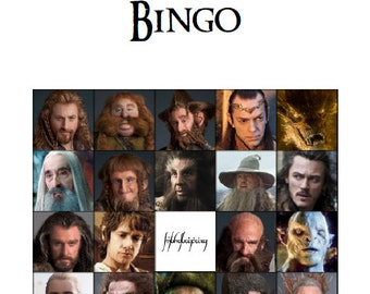 The Hobbit Bingo Party Game