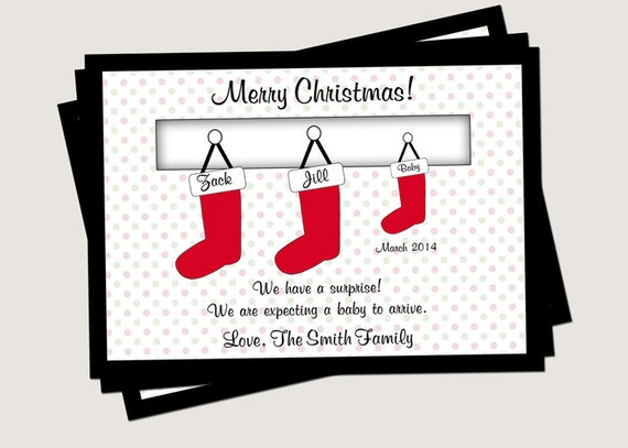 image 0 - Pregnancy Announcement Christmas Card