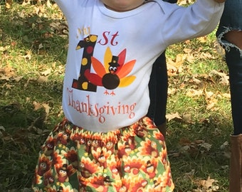 My First Thanksgiving Outfit Baby Girl -  Baby Girl Thanksgiving Outfit - Coming Home Outfit