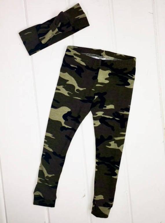 ef3d131f452cc Camo Leggings For Girls Camo Baby Leggings Camo Camo | Etsy