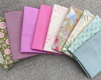 Fabric Bundle Fat Quarter Bundle 10 fat quarters curated bundle ruby star society tilda fabric