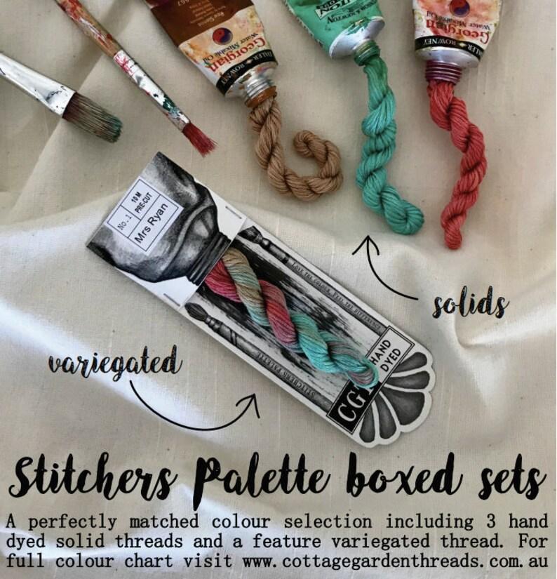 Hand Dyed Thread-Quilting Australia 6 Strand Cotton embroidery thread Bushfire Moon Cottage Garden Threads Stitchers Palette CGT