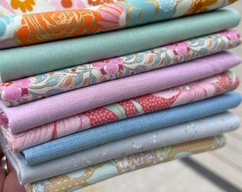 Fabric Bundle Fat Quarter Bundle 8 fat quarters curated bundle ruby star society tilda fabric